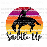 Saddle Up horse sunset Sublimation transfers Heat Transfer
