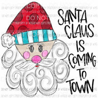 Santa Claus Is Coming To Town face sketch Sublimation transfers Heat Transfer