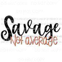 Savage Not Average Sublimation transfers Heat Transfer