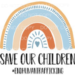 Save Our Children Rainbow Sublimation transfers - Heat