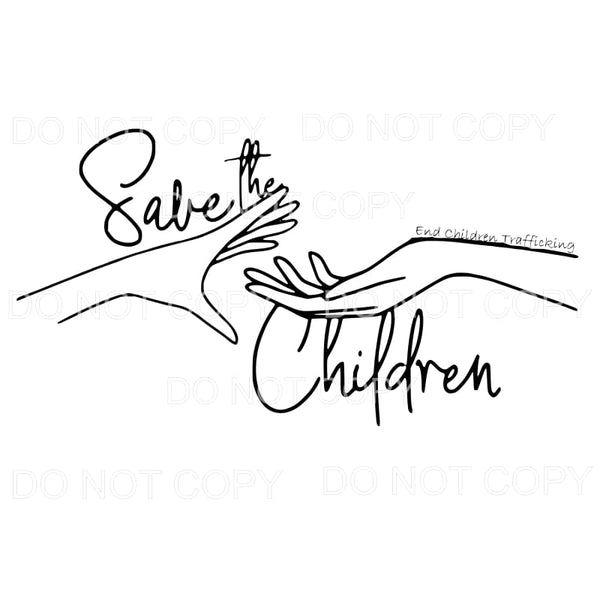 Save the Children Sublimation transfers - Heat Transfer