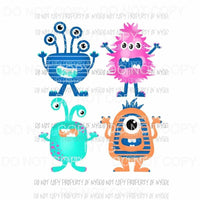 Scary Monster Group Sublimation transfers Heat Transfer