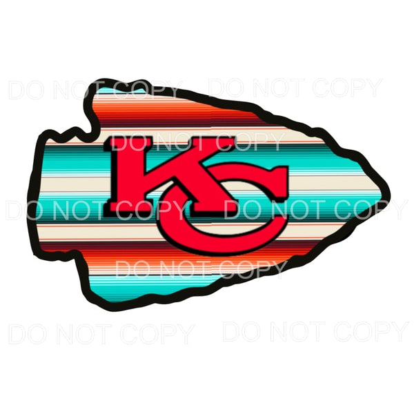 Serape Arrow head Chiefs KC Sublimation transfers - Heat