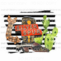 Silver Spur cowboy boot cactus arrow Texas Sublimation transfers Heat Transfer