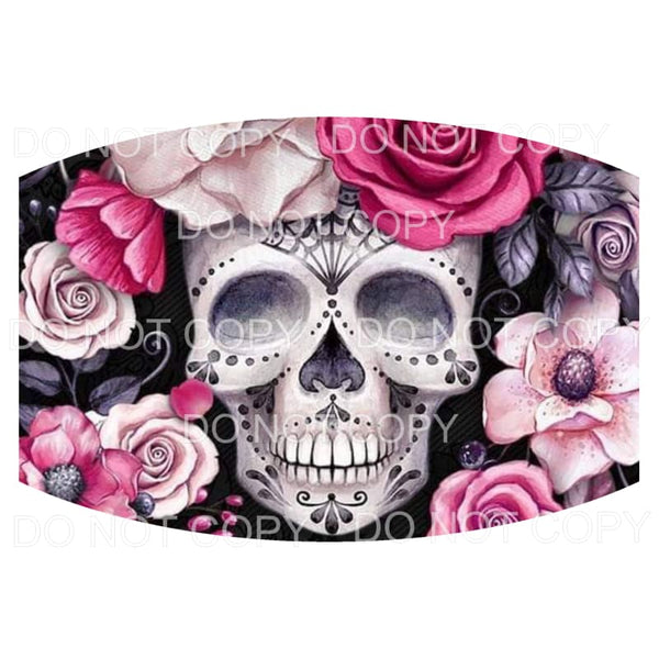 # skull 5 FACE MASK Sublimation transfers - Face Mask x 2 -