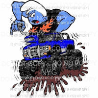 Smurf Monster truck Sublimation transfers Heat Transfer