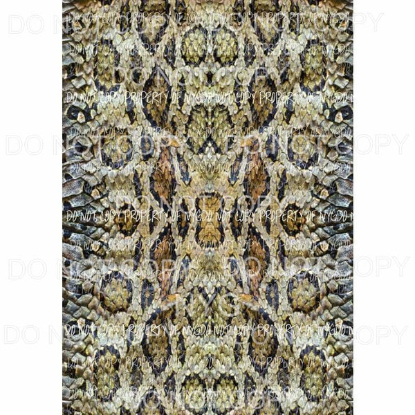 Snake skin sheet #1 Sublimation transfers 13 x 9 inches Heat Transfer