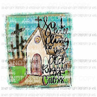 So i will cling to the old rugged cross Hand Drawn Sublimation transfers Heat Transfer