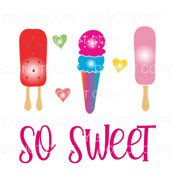 So Sweet Ice Cream Sublimation transfers - Heat Transfer