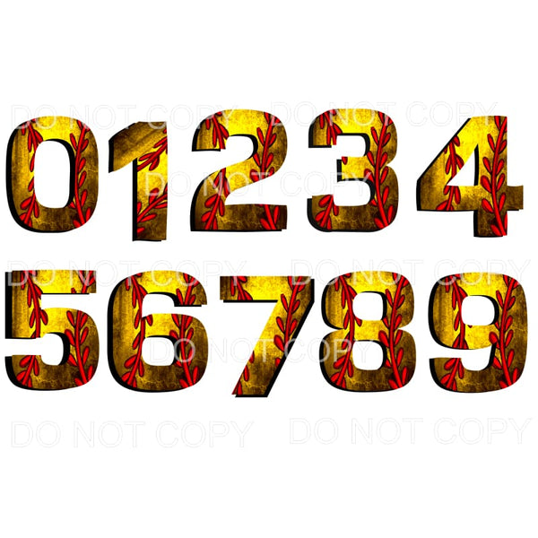 SOFTBALL NUMBERS # 4 Sublimation transfers - Heat Transfer