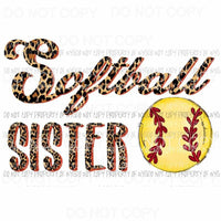 Softball sister # 6 Sublimation transfers Heat Transfer