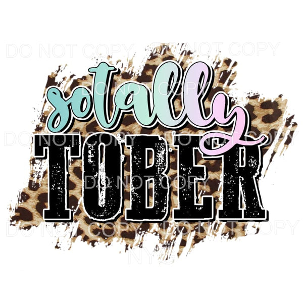 Sotally Tober leopard Sublimation transfers - Heat Transfer