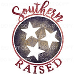 Southern Raised Tri star Tennessee Sublimation transfers -