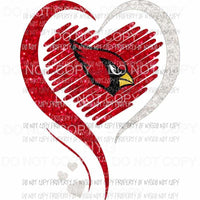 St. Louis Cardinals hearts red silver glitter Sublimation transfers Heat Transfer