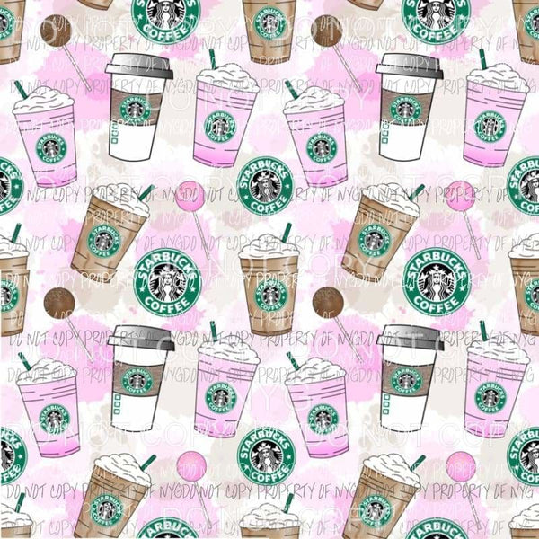 Starbucks Drinks Cake Pops Sheet Sublimation transfers 13 x 9 inches Heat Transfer