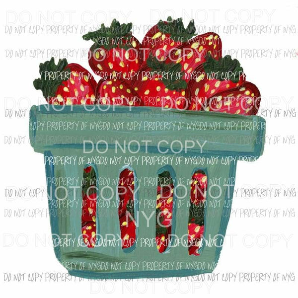 Strawberry Basket Sublimation transfers Heat Transfer
