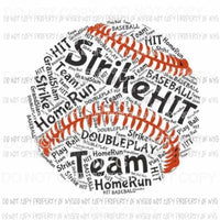 Strike Hit Team Baseball collage Sublimation transfers Heat Transfer
