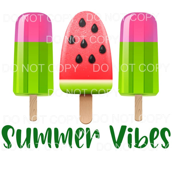 Summer Vibes Watermelon Ice Cream Sublimation transfers -