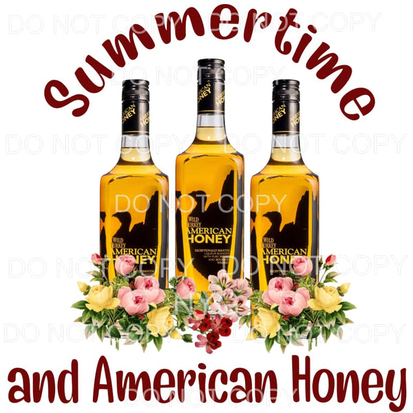 Summertime And American Honey Bottles Flowers Sublimation