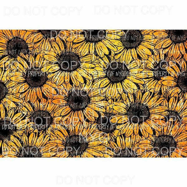 Sunflower Background Sheet #1 Sublimation transfers 13 x 9 inches Heat Transfer