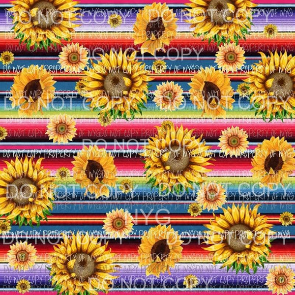 Sunflower Background Sheet #3 Sublimation transfers 13 x 9 inches Heat Transfer