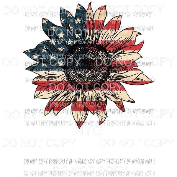 Sunflower flag screen print Full Color Screen Print can go