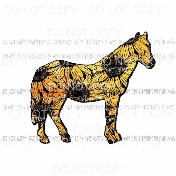 Sunflower Horse Sublimation transfers Heat Transfer