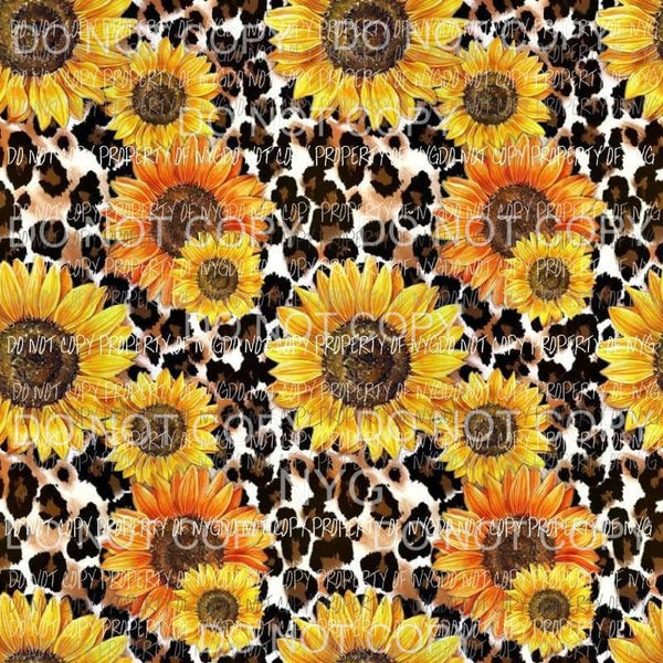 Sunflower Leopard Sheet Sublimation transfers 13 x 9 inches Heat Transfer