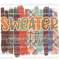 Sweater Weather multi print brush strokes Sublimation transfers Heat Transfer