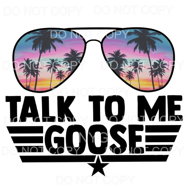 Talk To Me Goose #5 non distressed tropical trees