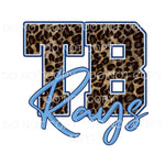 TB Rays Blue Leopard Baseball Tampa Bay Sublimation