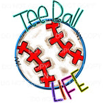 Tee Ball Life Doodle Sublimation transfers - Heat Transfer