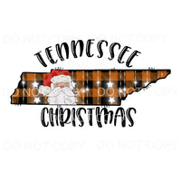 Tennessee Christmas Santa Orange Plaid # 2 Sublimation