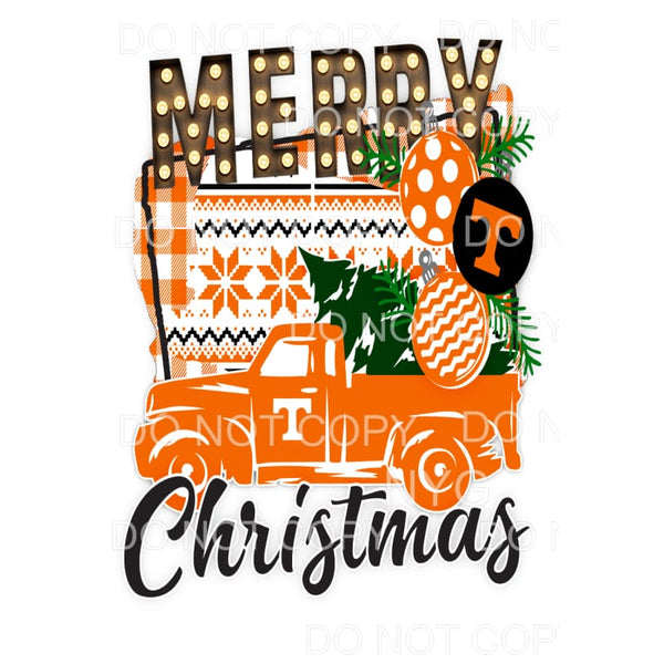 Tennessee Merry Christmas Truck VOLS Sublimation transfers -