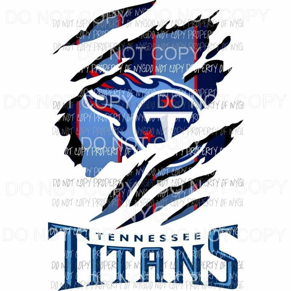 Tennessee Titans ripped design Sublimation transfers Heat Transfer