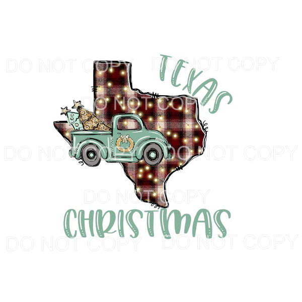 TEXAS Christmas TRUCK # 3 Sublimation transfers - Heat