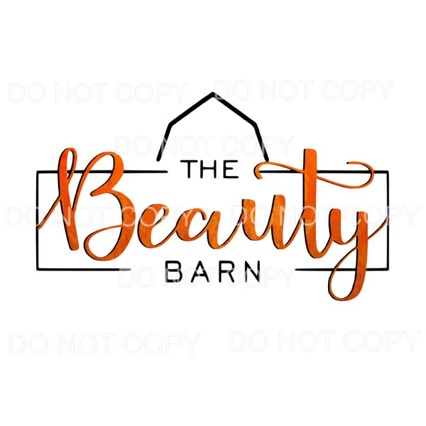 The Beauty Barn Custom Sublimation transfers - Heat Transfer