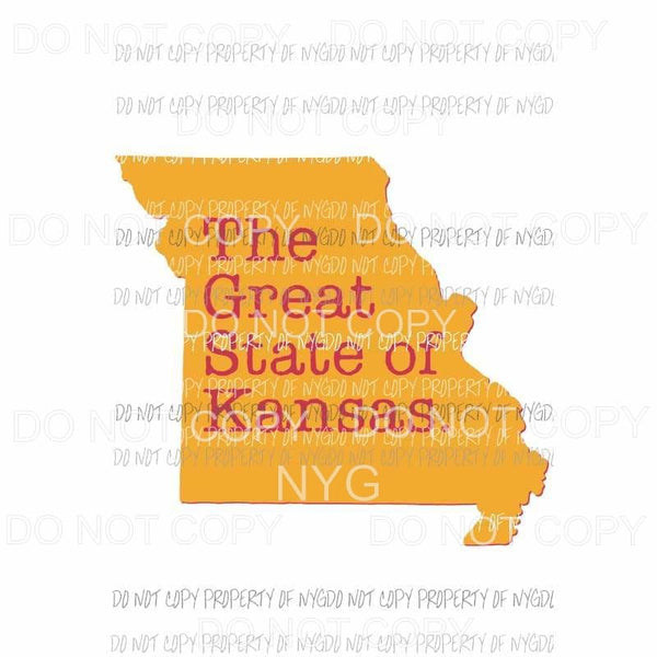 The Great State of Kansas Sublimation transfers Heat Transfer