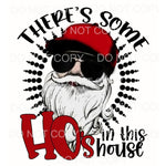 There's Some Ho's In The House Santa Aviators Baseball Cap