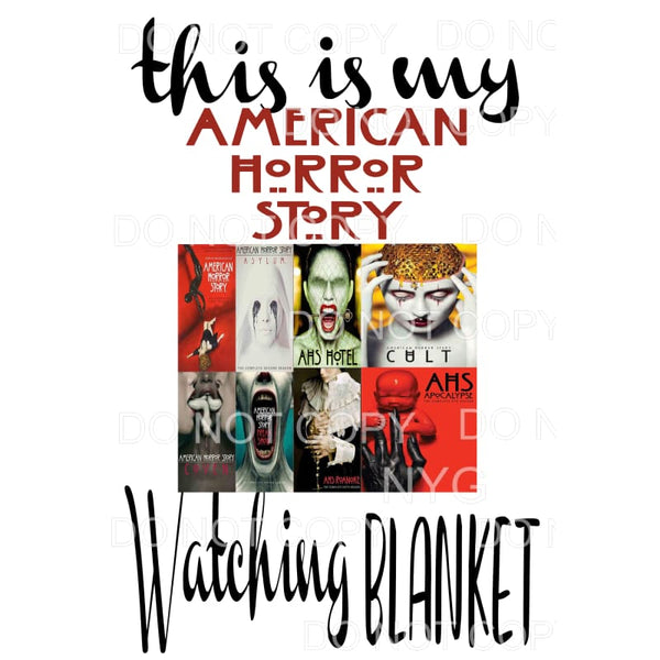 This is my American Horror story watching Blanket # 2