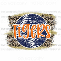 Tigers baseball leopard Sublimation transfers Heat Transfer