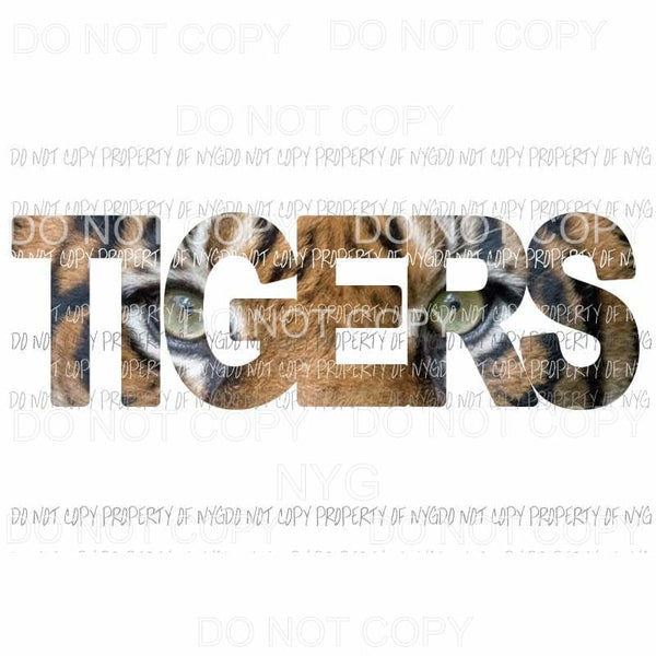 TIGERS FACE word school Sublimation transfers Heat Transfer