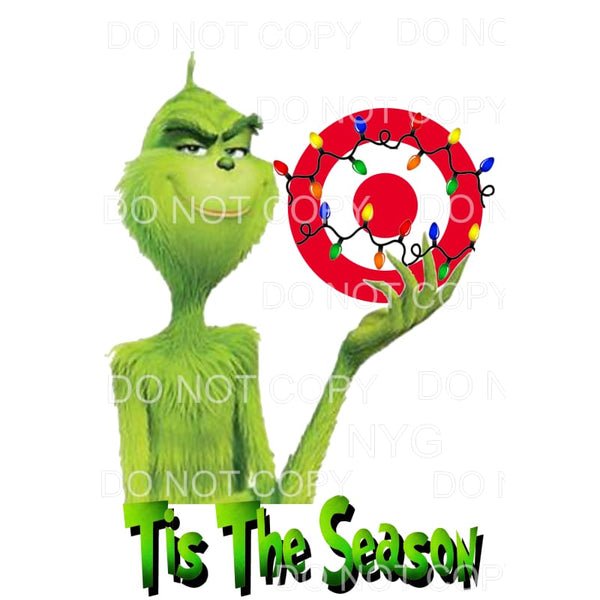 tis the season target Grinch Sublimation transfers - Heat