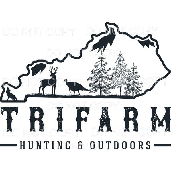 TRIFARM Hunting and outdoors Kentucky Sublimation transfers