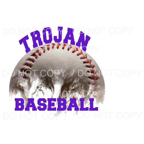 Trojan Baseball Sublimation transfers - Heat Transfer