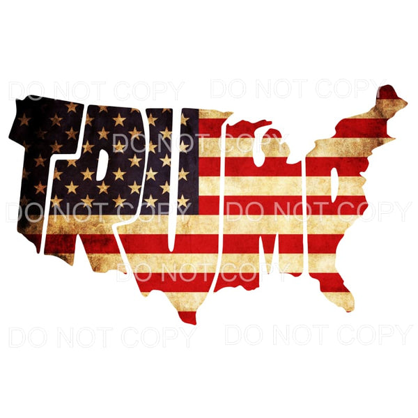 Trump United States Flag Sublimation transfers - Heat