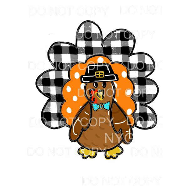 Turkey Orange Polka Dots Buffalo Plaid Sublimation transfers