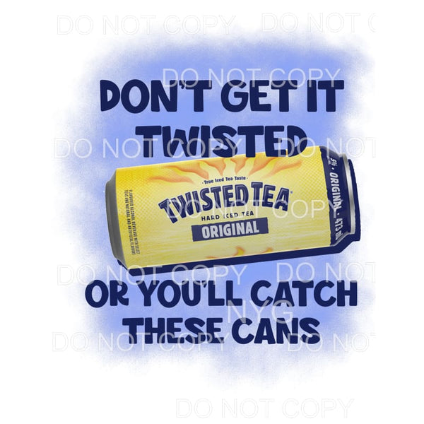 Twisted Tea #1 Sublimation transfers - Heat Transfer