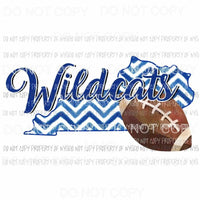 UK Kentucky Wildcats football chevron state Sublimation transfers Heat Transfer