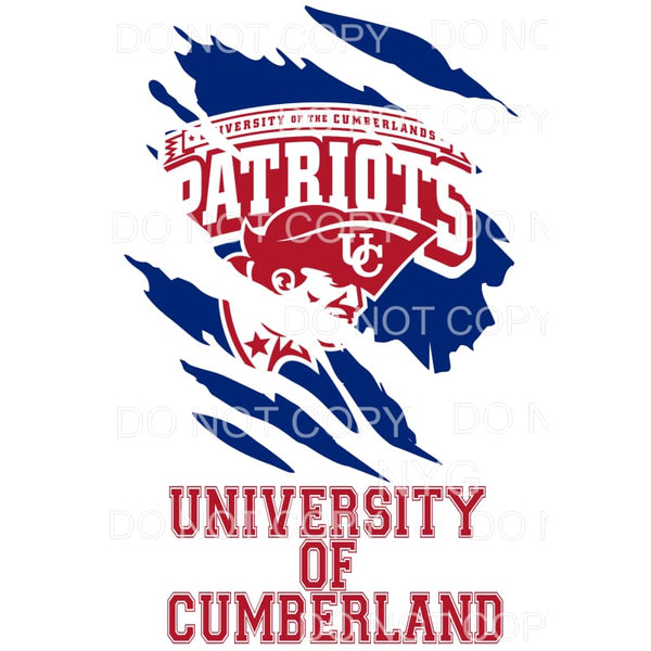 University of Cumberlands Patriots Ripped # 1 Sublimation